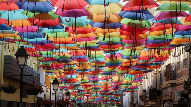 Deštníková ulice v Águeda